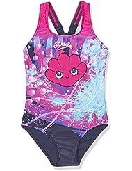 Speedo Girls 'mareas Idol esencial Floral Bañador (1pieza), niña, color Electric Pink/Navy/White, tamaño 3 años