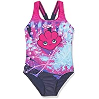 Speedo Tidal Idol - Bañador para niña, 1 Pieza, niña, Tidal Idol Essential Applique, Electric Pink/Navy/White