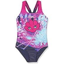 Speedo Girls 'mareas Idol esencial Floral Bañador (1pieza), niña, color Electric Pink/Navy/White, tamaño 5 años