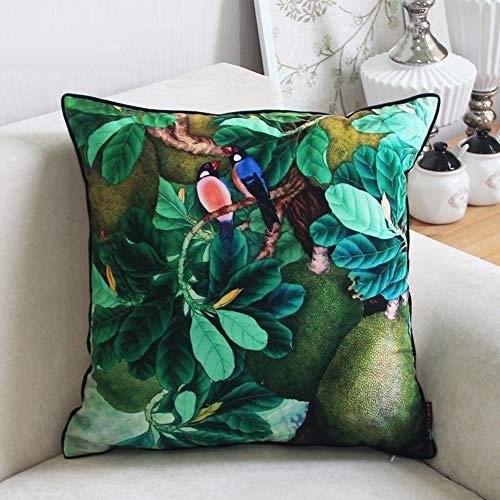 Nordic Einfache Grüne Tropische Regenwald Pflanze Kissen Mode Gedruckt Wohnzimmer Sofa Kissen 45X45Cm (Körper Patrol Paw Kissen)