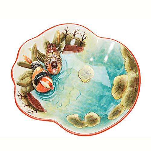 ZXRRSHOP Dessertteller, chinesisch, kreativ, Keramik, für Hochzeit, Handwerk, Dekoration, Obstteller, BOL de Fruits, BOL de Fruits (Chinesische Dessertteller)