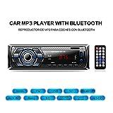 Radio Coche Bluetooth Reproductor de Mp3 Autoradio FM Estéreo de Automóvil Receptor de Audio / Radio Manos libres MP3 / MP4 / MP5 / USB / SD / FM Car Stereo Soporte USB Tarjeta SD Entrada AUX Control Remoto Inalámbrico