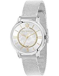 MASERATI Reloj Analógico para Mujer de Cuarzo con Correa en Acero Inoxidable R8853118504