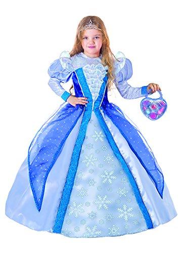 510c8bba5958 Fiori Paolo 27139 - Principessa delle Nevi Costume Bambina con Borsetta e  Make-Up