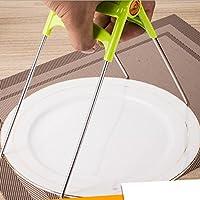 EQLEF® Non Silp multifunzionale in acciaio inox clip per Anti Scald Sollevare ciotole e stoviglie, (Anti Scald Dispositivo)