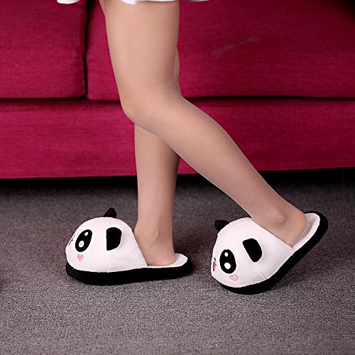Anself Chaussons Cotons Panda en Peluche Mignon Doux Type1