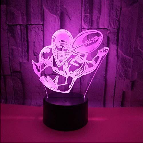 Neues Rugby 3D Beleuchtet 7 Farben-Noten-Fernweihnachtsdekorations-Geschenk Für Baby-Raum Beleuchtet Großhandels3D Leuchten - 400 Rugby