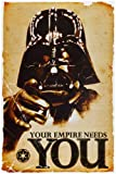 1art1 52077 Poster Star Wars Darth Vader L'Empire à Besoin de Vous 91 x 61 cm