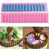 Yingwei Gartenzaun Silikonform Gartenzaun Schokolade Fondant Hochzeit Torten Deko