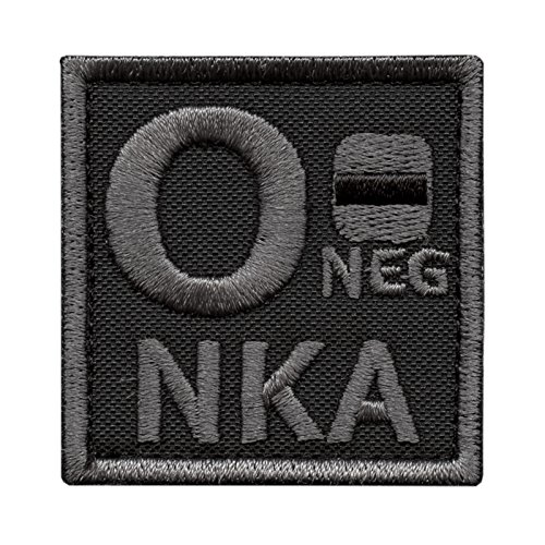 Image of Subdued O NEG O- NKA Blood Type ACU Morale Army Tactical Embroidery Fastener Patch