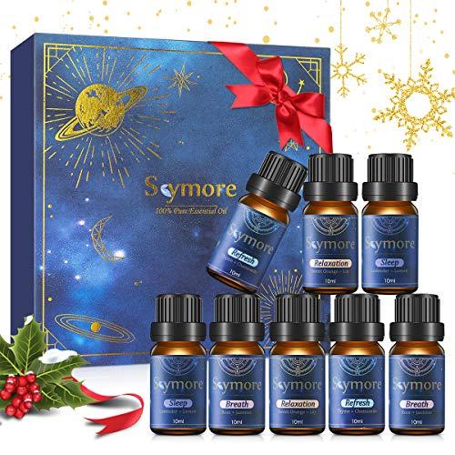 Skymore Ätherische Öle Set, Rein Duftöl für Diffuser Duftlampen Lufterfrischer Geeignet, Essential Oils Geschenkset -