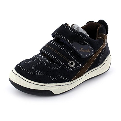 Lurchi Bruce Kinder Sneaker aus Veloursleder in blau Größe 27 42 Atlantic Brown