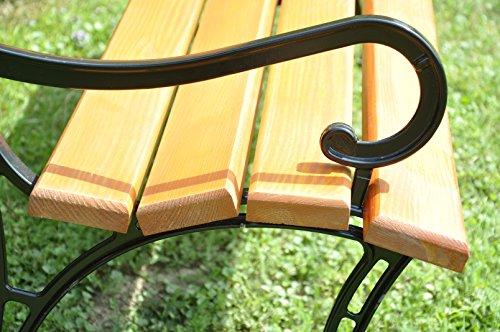 2er Set Gartenmöbel Füße Beine aus Aluminium Gartenbank Beine Parkbank Beine (mit der Armstütze) - 2