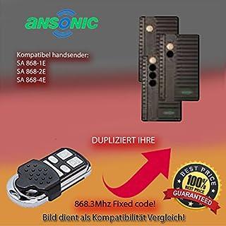 Kompatibel mit model ANSONIC SA 868-1E, ANSONIC SA 868-2E, ANSONIC SA 868-4E Handsender ersatz, klone