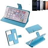 K-S-Trade Flipcover für Nokia 5 Dual-SIM Schutz Hülle Schutzhülle Flip Cover Handy case Smartphone Handyhülle blau