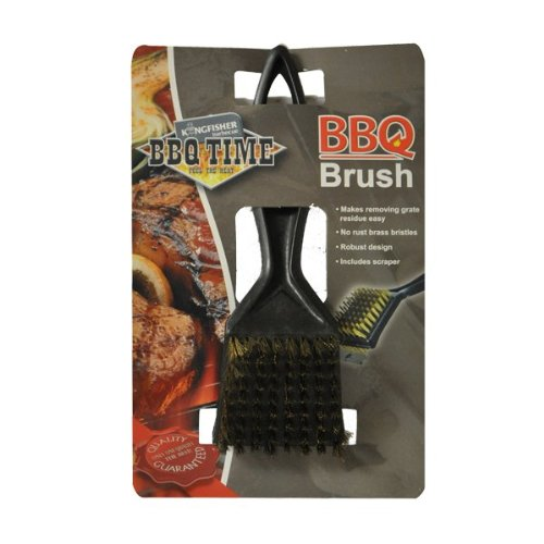 BBQ Bürste kein Rost mit Messing Borsten inklusive Abstreifer