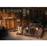 Vlies Fototapete PREMIUM PLUS Wand Foto Tapete Wand Bild Vliestapete - Werkstatt Oldtimer Vintage restaurieren - no. 3360, Größe:312x219cm Vlies