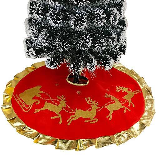 ekoration- 90cm SAMT Weihnachtsbaum Rock Weiß Schneeflocke Weihnachtsbaum Schleifen FüR Weihnachtsbaum Dekoration ()
