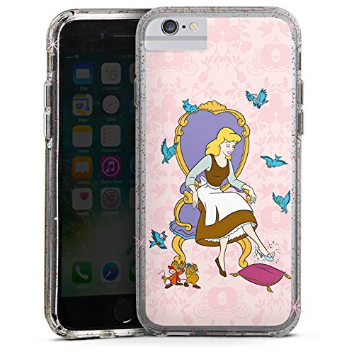 Apple iPhone 6 Plus Bumper Hülle Bumper Case Glitzer Hülle Disney Cinderella Geschenk Merchandise Bumper Case Glitzer rose gold