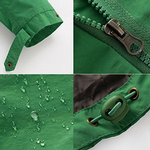 Zhhlaixing Jackets Women's Single - Layer Waist Casual Jacket Fashion Windbreaker Waterproof Sports Jacket Mountaineering vêtements brown