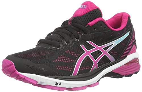 Asics GT-1000 5, Women's Running Shoes, Black (Black/Sport Pink/Aruba Blue), 5 UK
