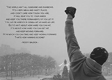 Rocky Balboa berühmtes Filmzitat Philadelphia Poster, A1(841X594MM)