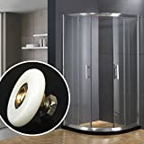 Inovey 25Mm 27Mm Dusche Glastüre Einzelne Bottom Wheels Badezimmer Gleitrollen Läufer Hardware - 27