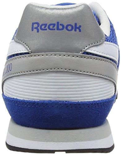 Reebok Gl 3000, Chaussures de Course Garçon Bleu - Blau (Blue Sport/Steel/White/Black)