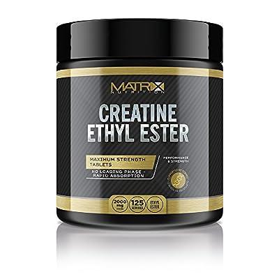 Matrix Nutrition Creatine Ethyl Ester (CEE) Hardcore Tablets - Muscle Mass Strength Ednurance. by Matrix Nutrition