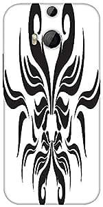 Snoogg Decor Swirl Elements Illustration Designer Protective Back Case Cover For HTC M8