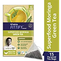 Saffola FITTIFY Gourmet Superfood Moringa Green Tea - 37.5 g (Lemongrass, 15 Sachets)
