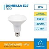LÁMPARA REFLECTORA LED R90 12W E-27 230V 3000K