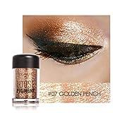 Barbarer Lidschatten Palette, Glitter Perlglanz Lidschatten Pulver Eye Shadow Makeup Pearl Schimmer Metallic Kosmetik Eyeshadow Palette -18 Farben (7)