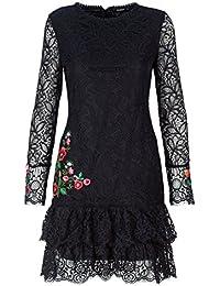 Desigual Vestido Boreal Negro de Mujer.