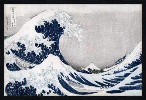 Bild mit Rahmen: Katsushika Hokusai,