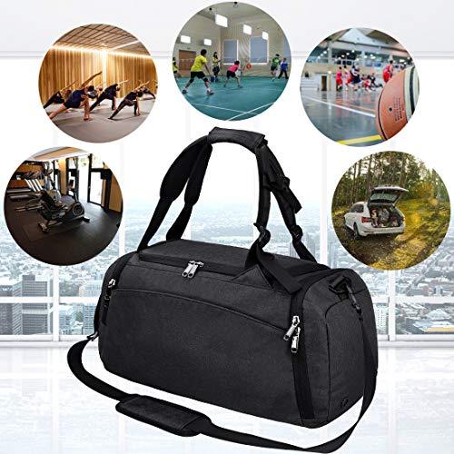 NEWHEY Sporttasche Gym Fitness, Schwarz - 6