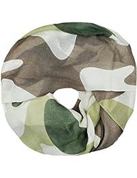 Mevina Schlauchschal Loop mit Camouflage Muster Tarnfarben Pastell Druck Rundschal Damen Schal