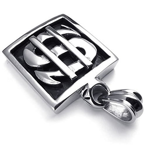 beydodo-stainless-steel-necklace-massive-chain-black-silver-dollar-symbol-18-26-link-for-men
