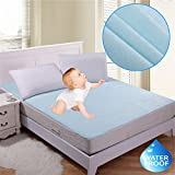 #6: Rite Clique Latesthomestore Waterproof Hypoallergenic Mattress Protector for King Size Bed(Blue, 72x78-inch)