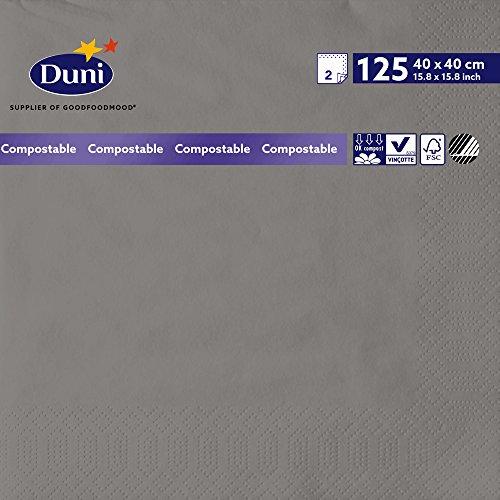 Duni 1790032lagig Tissue Servietten, 40cm x 40cm, granit grau (1250Stück) - Wirtschaft Tissue-papier