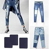 Jeerui 5 Pcs Patches Reparaturflicken Zum Aufbügeln Denim Baumwolle Patches für Jeans Dunkelblau