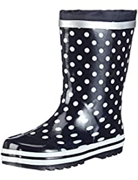 Playshoes Punkte Gummistiefel Punkte, Bottes fille