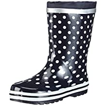 Playshoes Girls Rubber Boots, 4 UK Child