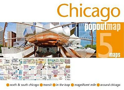 Chicago PopOut Map (PopOut Maps) por PopOut Maps
