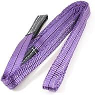 2m 25mm Breite Eye to Eye Nylon Web Hebeband Tow Strap violett