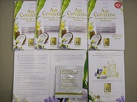 Eminence Coconut Age Corrective Moisturizer Card Sample Set of 6 Travel Size by Eminence Organic Skin Care