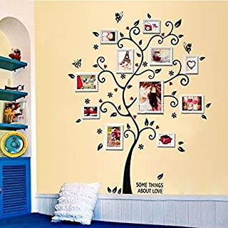 ZMYZ Wall Sticker Diy Photo Family Tree Wall Stickers Home Decor Design Living Room Bedroom Sofa Vintage Poster Wall Art Decals Home Decoration