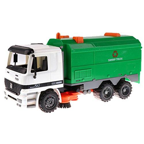 Homyl 1:22 Mini Kunststoff Engineering Fahrzeugmodell Baustellenfahrzeug Spielzeug Sammlung - Kehrmaschine