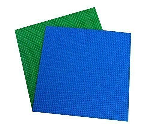 Strictly Briks Pack de 2 Bases para Construir - Compatible con Todas Las Grandes Marcas - 40 x 40 cm - Azul Verdoso