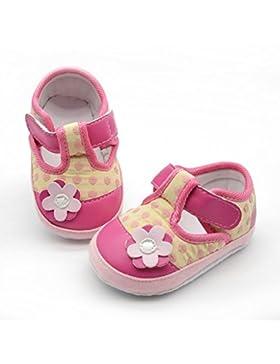 Hongfei Estampado de flores con zapatos de niña de velcro suave